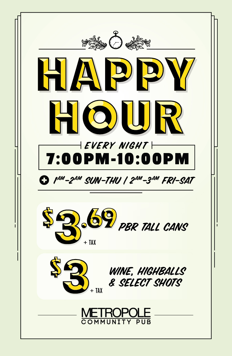 Happy Hour is here!