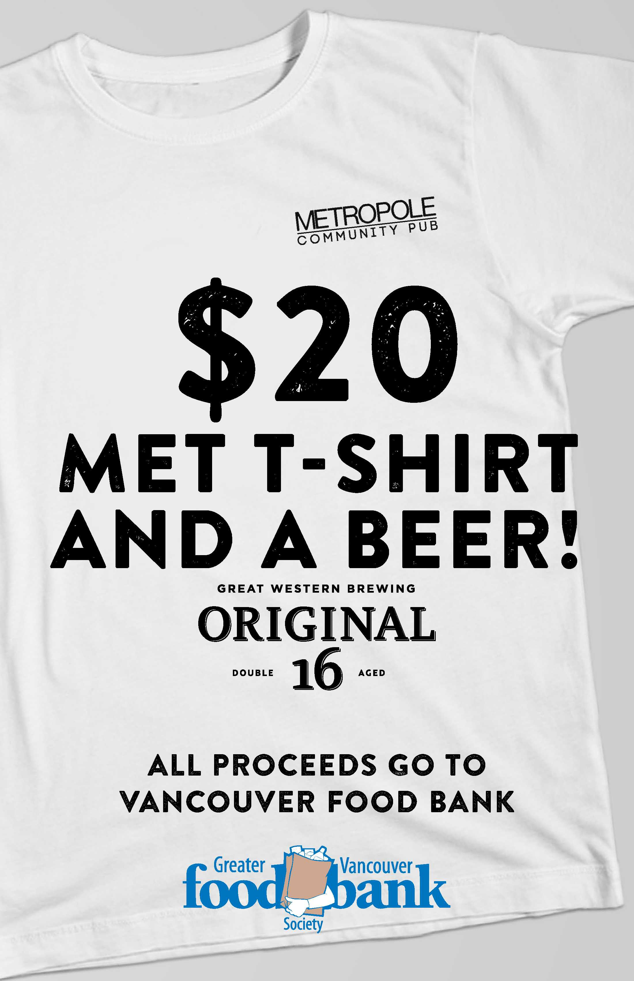 Food Bank Donation Of 20 Will Get You A Beer Amp A Shirt